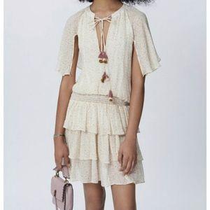 NWT Rebecca Minkoff Pebbled Tie Floral Dress Sz S
